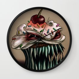 Zhola the Demonic Cupcake Wall Clock