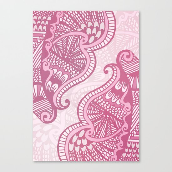 Henna Pattern Canvas Print
