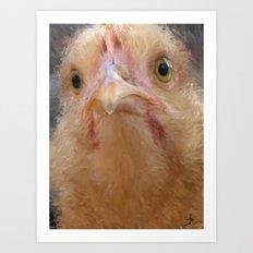 Chicken Face Art Print