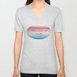 whatever one loves most is beautiful Unisex V-Neck