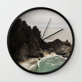 BIG SUR, CA WATERFALL AND COAST Wall Clock