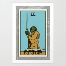 The Hermit - Tarot Card Art Print