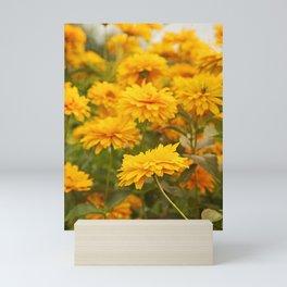 Sunny Yellow Flowers Mini Art Print