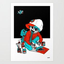 SHIT ART TRIP. Art Print
