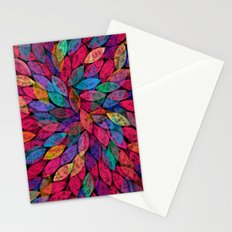 Abstract Colorful leaves III Stationery Cards
