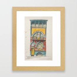 Brussels house Framed Art Print