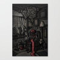 knitting Canvas Prints featuring Knitting by Malliya