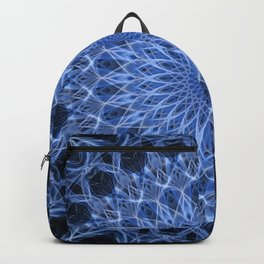 Cold blue mandala Backpack