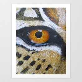 Eye See You Leopard Eye Art Print