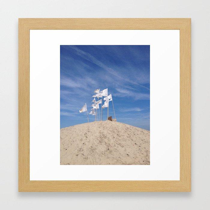 Beach Flags Framed Art Print