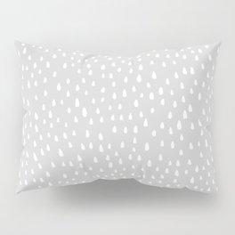 Light Gray Paint Drops Pillow Sham