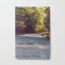 I like living - agatha christie Metal Print