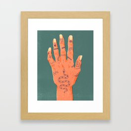 Hand Tattoos Framed Art Print