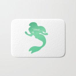 little mermaid.. wonderful world Bath Mat