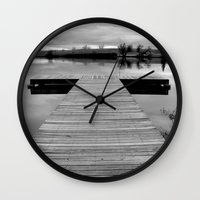 lonely Wall Clocks featuring Lonely by Leah M. Gunther Photography & Design