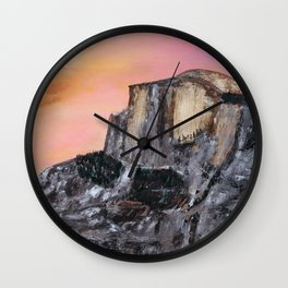 Yosemite Oil Painting Wall Clock