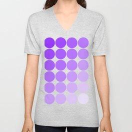 Violet Circle Color Chart Unisex V-Neck