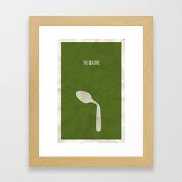 The Matrix minimalist poster Framed Art Print
