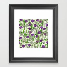 A Field of Chives Framed Art Print