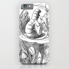 Caterpillar using a hookah_John Tenniel  British illustrator, graphic humourist and political cartoo iPhone Case