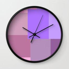 Purple grid Wall Clock