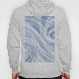 Blue Stripe on Blue Swirl Hoody