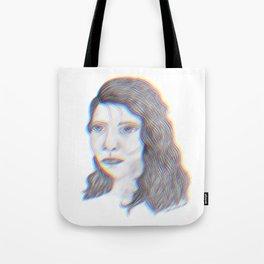 "SERIOUS - pencil illustration ""screen print"" Tote Bag"