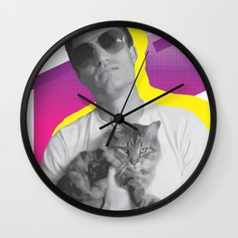 Dude+Cat Wall Clock