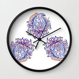 traditional paisley in modern style Wall Clock