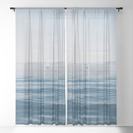BODY OF WATER DURING DAYTIME Sheer Curtain