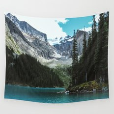 Canoeing in Moraine lake Wall Tapestry