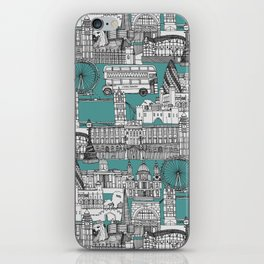 London toile blue iPhone Skin