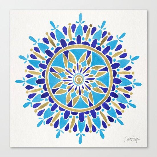 Royal Blue Mandala Canvas Print