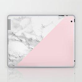 Marble + Pastel Pink Laptop & iPad Skin