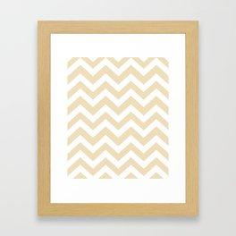 Dutch white - pink color - Zigzag Chevron Pattern Framed Art Print