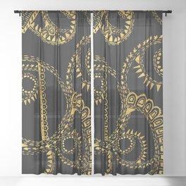 gold ornaments Sheer Curtain