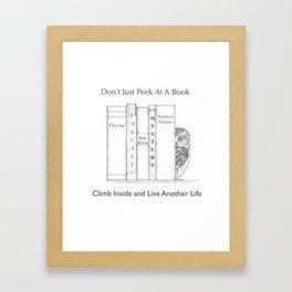 Climb Into A Book Framed Art Print