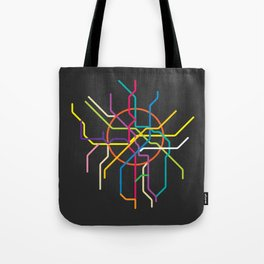 moscow metro map Tote Bag