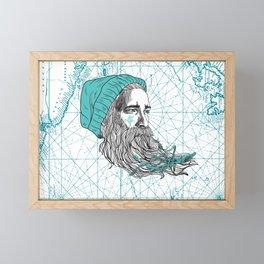 Ahoi Sailor Hauke Framed Mini Art Print