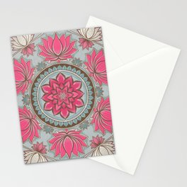 Blooming lotus Stationery Cards