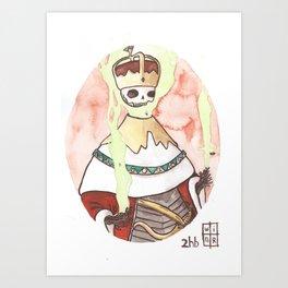 Skull King Of The Emerald Crown Art Print