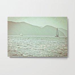 Water & Sails - British Virgin Islands Metal Print