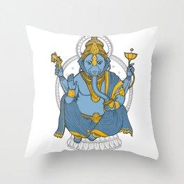 Alienphant Throw Pillow