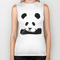 red panda Biker Tanks featuring Red Panda by Laura Brightwood