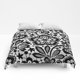 Black Lace. Pattern. Comforters