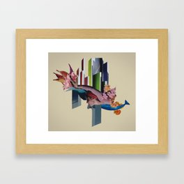 the coming tide Framed Art Print