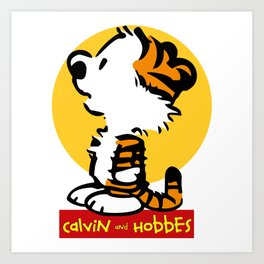 baby calvin and hobbes Art Print