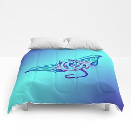 Tribal Manta Ray Comforters