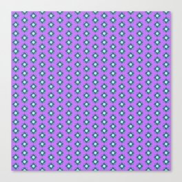 Mandala pattern smal purple Canvas Print