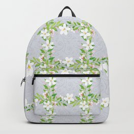Bountiful Blossoms Silver Backpack